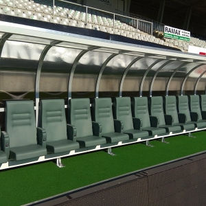"Football stadium ""STŘELNICE"" – soccer benches"